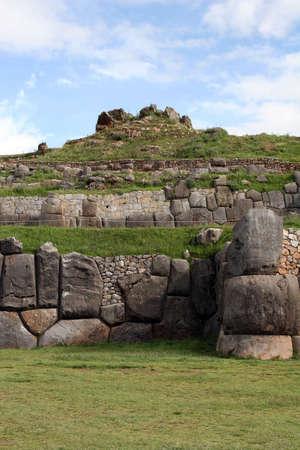 quechua: Ancient Sacsayhuaman ruins outside of Cusco, Peru Stock Photo