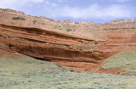clay stone road in jungle: Chief Joseph Scenic Highway in Wyoming Stock Photo