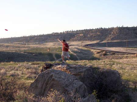 disc golf: Disc Golf at Diamond X Park in Billings, Montana  Stock Photo