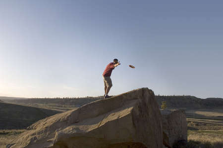 disc golf: Disc Golf at Diamond X Park in Billings, Montana. Stock Photo