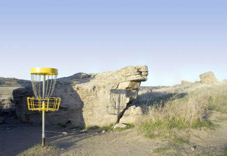 disc golf: Disc Golf at Diamond X Park in Billings, Montana  Stock Photo