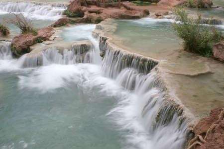 indian creek: Havasu Falls located on the Havasupai Indian Reservation, Arizona Stock Photo