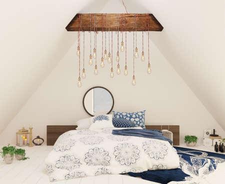 loft interior bedroom