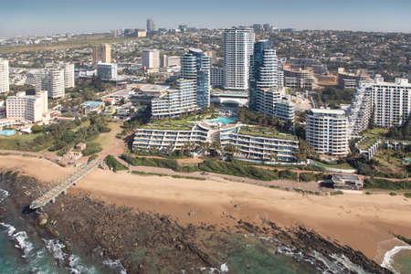 Durban, Kwa-Zulu Natal / South Africa - 08/03/2020: Aerial photo of Umhlanga beachfront and The Pearls Development
