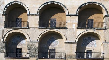 Semicircular arches castilian forming a background 版權商用圖片