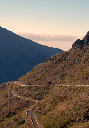 View from the heights of the mountains of Masca on the island of Tenerife Banque d'images - 113043129