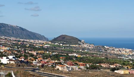View of Teide volcano from the town of Puerto de la Cruz