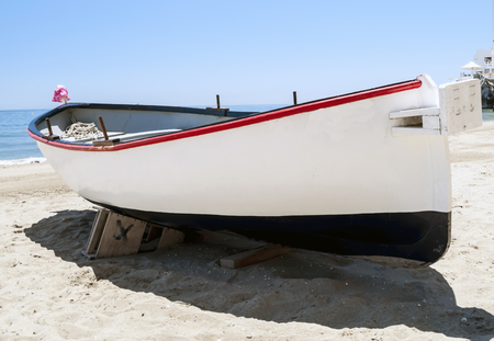 Fishing boat on the sandy
