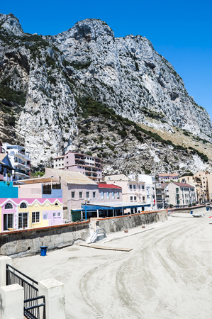 Houses located on the slopes of Mount Gibraltar Stok Fotoğraf