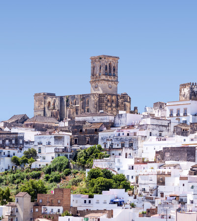White village of Arcos in Spain 写真素材