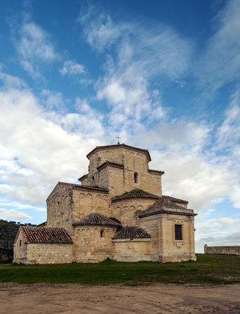 Ancient church in the fields of Valladolid 스톡 콘텐츠