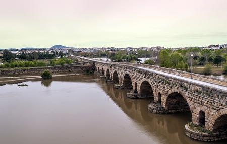 Roman bridge on the Guadiana river