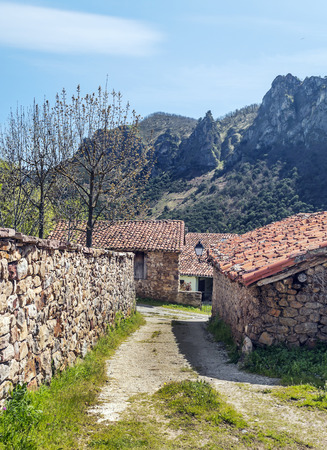 Mogrovejo village in the north of Spain