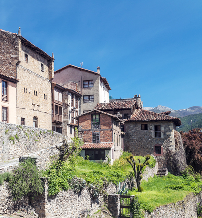 Potes village in the north of Spain Stock Photo