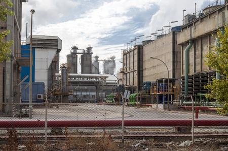 Industrial factories in the bay of Algeciras