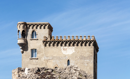 Remains of the castle of Tarifa in southern Spain