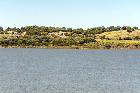 Lake in the fields of Andalusia Imagens