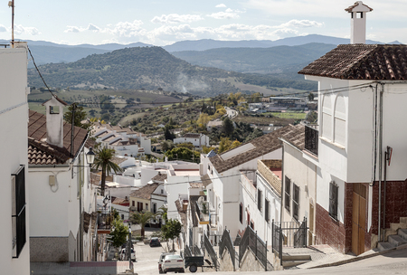 Street in the town of Pampaneira in Granada
