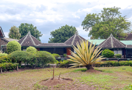 Lodge for tourists in the African savannah