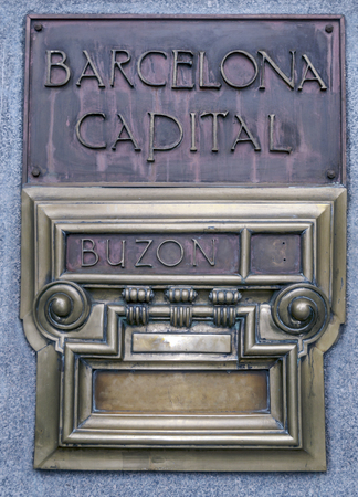 Mailbox that puts Barcelona capital