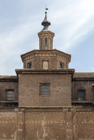 Dome of the Cathedral of Zaragoza on a sunny day in the north of Spain. Stock Photo