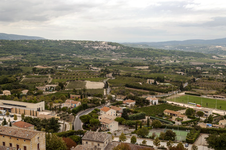 Gordes village in France on a cloudy day Foto de archivo