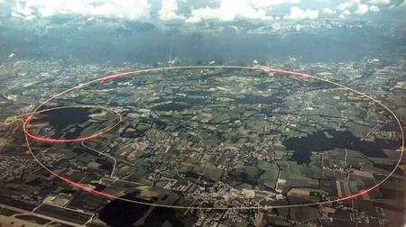 GENF, SCHWEIZ-SEPTEMBER 2014. Unterirdisch gelegene Komponenten des Teilchenbeschleunigers CERN.
