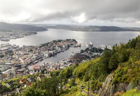 Stavanger, Norway-September 2016. Anonymous person walking around Stavanger. Stavanger is a city in southwestern Norway. Editorial