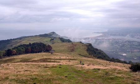 Grasslands in the Basque country on a cloudy day