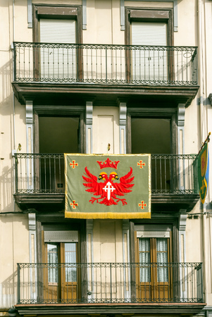 Facade with coat of arms in Spain