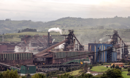 Industry of the north of Spain in a cloudy day