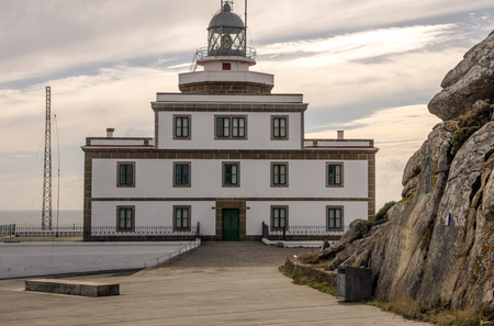 House of lighthouse in Finiterre in the north of Spain