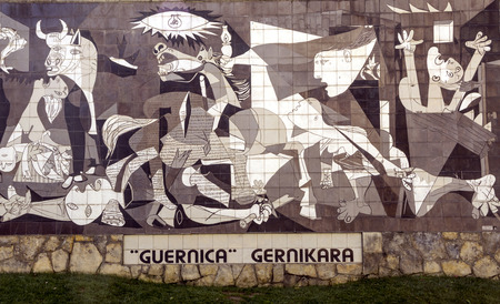 Guernica, Spain-September 2018. Picture of Picasso's Guernica