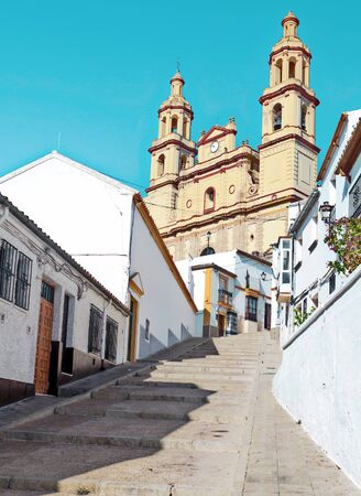 Setenil de las Bodegas village in the south of Spain in a sunny day.