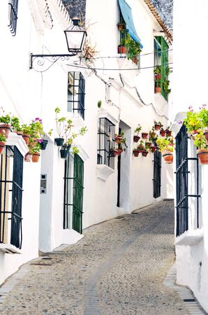 White village of Arcos de la Frontera in the south of Spain in a sunny day