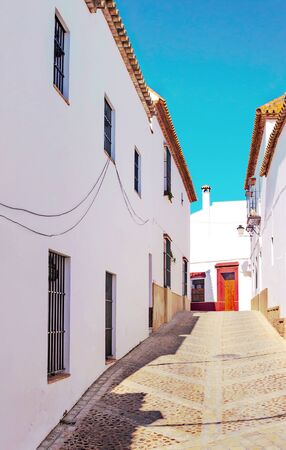 Streets of Carmona in Andalusia in a sunny day