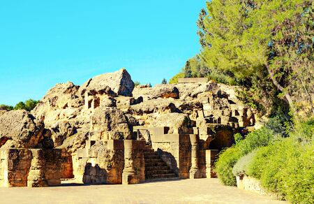 Roman ruins of Italica in Andalusia in a sunny day in the south of Spain Standard-Bild