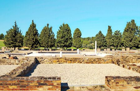 Roman ruins of Italica in Andalusia in a sunny day in the south of Spain