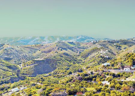 Mountains of Frigiliana in Andalusia in a sunny day