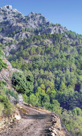 Mountains of Sierra de Cazorla in Andalusia in a sunny day in the south of Spain