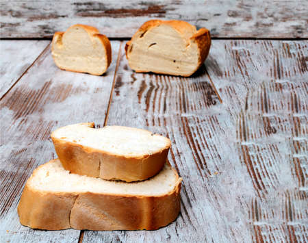 Bread surrounded by rustic background