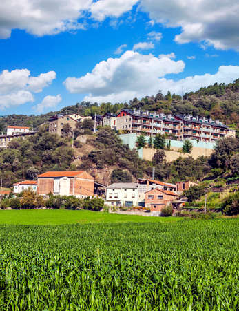 Rural village in the Catalonia pyrenees mountains Stock fotó