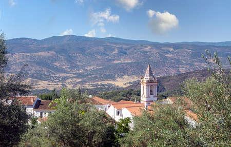 Cortelazor village in the mountains of Huelva province in the south of Spain. Archivio Fotografico