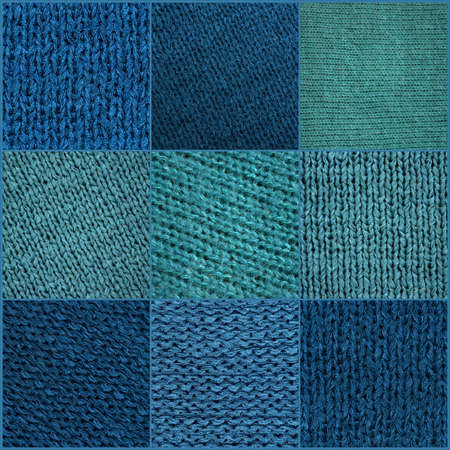 Collage of solid blue and light blue squares 스톡 콘텐츠