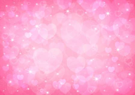 light pink heart bokeh background photo
