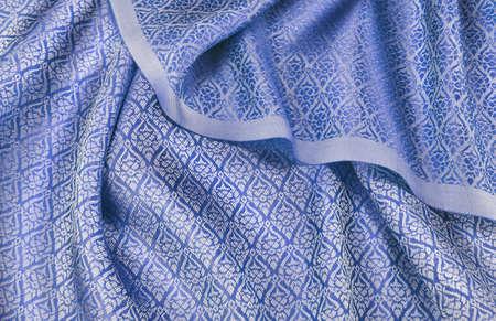crumpled thai silk fabric textured background