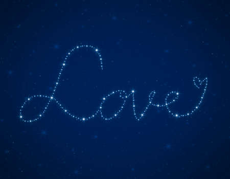 love heart from beautiful bright stars photo