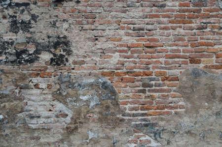 oude bak stenen muur patroon achtergrond  Stockfoto