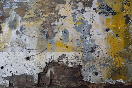 spattered: vieja madera r�stica salpicada con pintura Foto de archivo