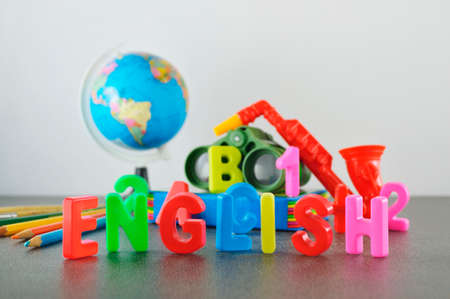 Study English conceptual image of education & knowledge photo